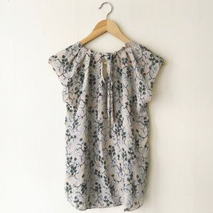 Lauren Conrad Floral Blouse Sleeveless